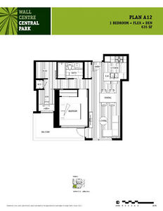 Wall Centre Central Park - 1 Bed + Den + Flex - GREAT INVESTMENT