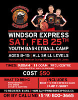 Windsor Express Youth Basketball Camp
