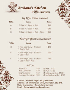 Home made fresh food tiffin & party orders