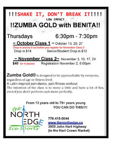 November Classes. $10 a class. Prince George British Columbia image 2