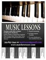 Music Lessons Available in your home!