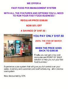 WANT TO UPGRADE YOUR FAST FOOD CASH REGISTER TO A TOUCH POS ?