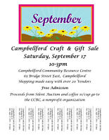 Vendors Wanted/Campbellford Craft & Gift Sale!!