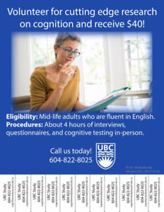 Volunteer for Cutting Edge Research with UBC Psychology!