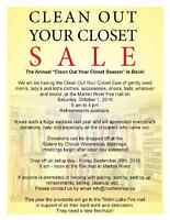Clean Out Your Closet Sale