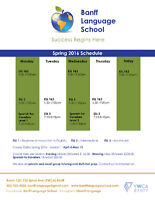 Spring Courses: ESL and Spanish. Register now!