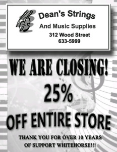 CLOSE OUT SALE!!! Dean's Strings Music Store