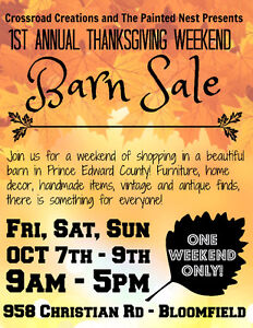Furniture and Collectibles Barn Sale!