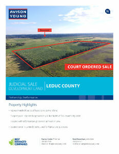 JUDICIAL SALE - DEVELOPMENT LAND