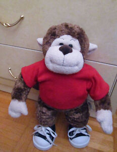 Build a Bear Monkey with shirt, shoes, and house!