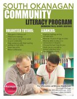 Volunteer Adult Literacy Tutors needed