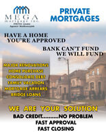 PRIVATE MORTGAGES: BAD CREDIT...NO PROBLEM