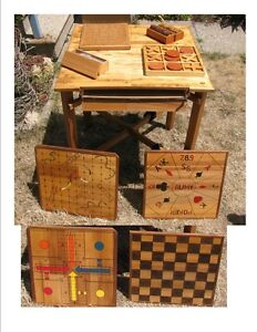 Rob's Woodcraft - Family Games Table and Games Array