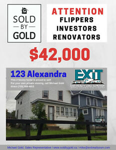 Attention House Flippers, Investors and Renovators