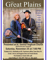 Concert with Saskia and Darrel, The Great Plains in Penticton.