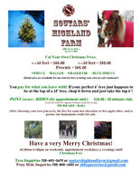 Come Hunt With Us! SHF Cut Your Own Christmas Trees!
