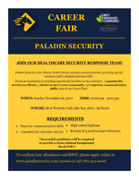 Paladin Security Career Fair / Open House - Cold Lake