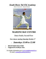 Mahone Bay Tai Chi Classes