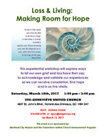WORKSHOP - Loss & Living:  Making Room for Hope