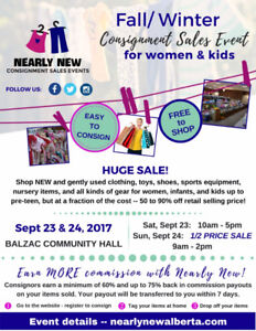 Nearly New Fall/ Winter Consignment Sales Event