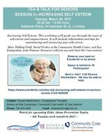 Tea & Talk for Seniors:  Increasing Self Esteem