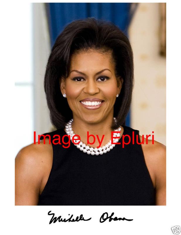 Michelle Obama Signed Preprint Autograph 8x10 photo