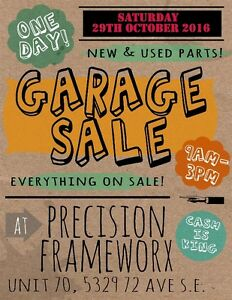 Motorcycle parts Garage Sale / open house