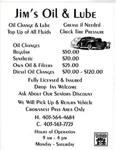 Jims Oil And Lube