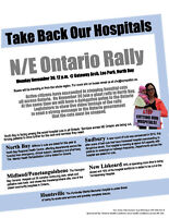 Take Back Our Hospitals! N/E Ontario Rally