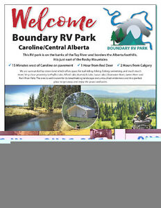 BOUNDARY RV PARK/LOTS FOR LEASE/WEST COUNTRY/QUAD IN QUAD OUT