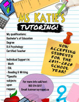 Tutoring for elementary and EAL students!