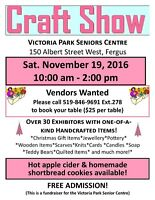 VENDORS WANTED for Vendor Craft Show in Fergus