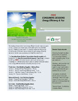 FREE ENERGY EFFICIENT CONSUMER SESSIONS