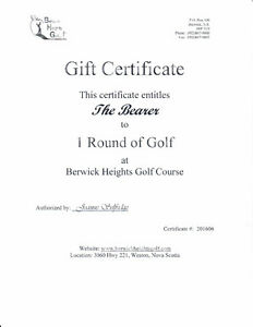 Two Green Fees for Berwick Heights Golf Course - Value $108.00