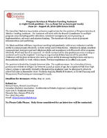 Canadian Diabetes Association - Summer Student Position