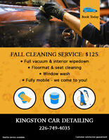 FALL PRICING FOR MOBILE CAR DETAILING - Only $125 car/$150 truck