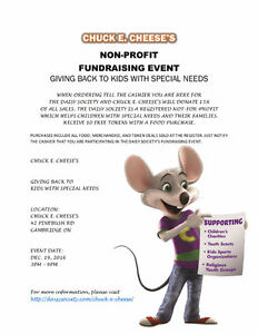 Join Us At Chuck E. Cheese's Kitchener / Waterloo Kitchener Area image 1