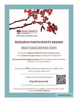 Breast Cancer & Work Study seeking participants for survey