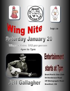 Wings, Fries and Jeff Gallagher performing solo