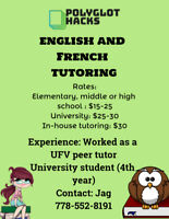 English and French tutor