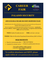 Paladin Security Career Fair / Open House- Valleyview