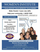 Women Empowered WI Meeting in St. Catharines