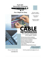 Security Camera & Network cable Installation