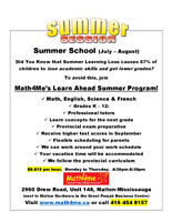 Summer Tuition Program in Malton-Mississauga!