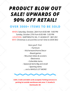 PRODUCT BLOW OUT SALE! 90% OFF!