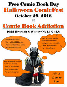Free Comic Book Day - Halloween ComicFest Oct 29th 10am to  4pm Peterborough Peterborough Area image 1