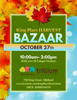 Vendors Wanted- King Place Harvest Bazaar