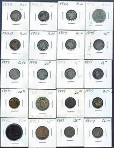 Early United States coins...silver & copper