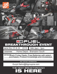 MILWAUKEE BREAKTHROUGH EVENT - BRAMPTON SOUTH - HOME DEPOT