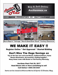 Marine Auction Pontoon ,fishing, and sport boats outboards